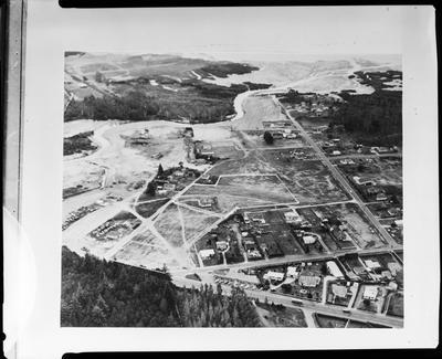 Film negative: International Harvester Company: aerial view of Rotorua