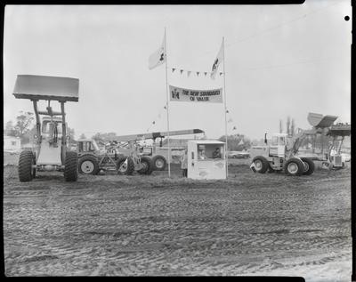 Film negative: International Harvester Company: line-up of heavy construction machinery