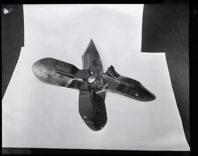 Film negative: International Harvester Company: damaged fan blades