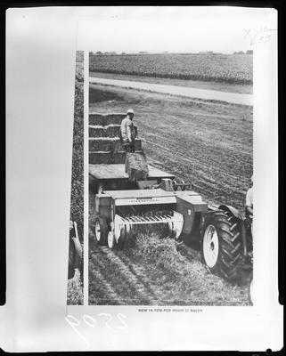 Film negative: International Harvester Company: baler