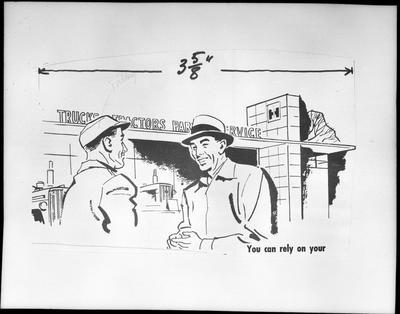 Film negative: International Harvester Company: building front