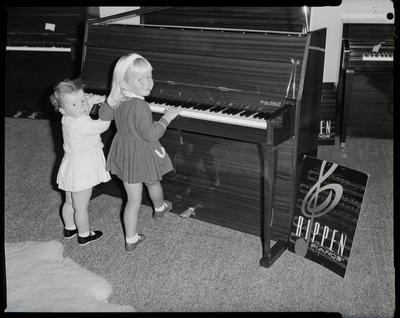 Film negative: Sedley Wells Limited, children and piano
