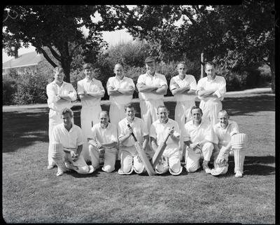 Film negative: Christchurch Working Men's Club, cricket team