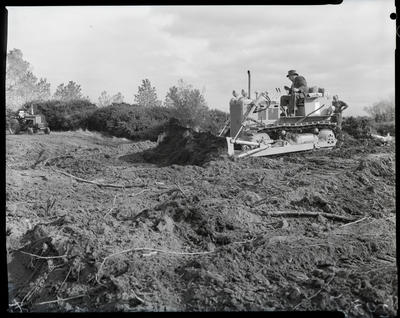 Film negative: International Harvester Company: bulldozer at work