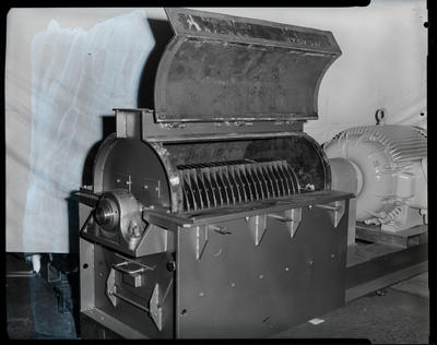 Film negative: Machinery for Flemings Mill