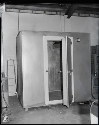 Film negative: McAlpine refrigeration display cabinet
