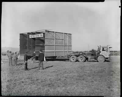 Film negative: Fleming-Woods Grain Mills in Hornby