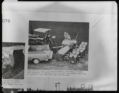 Film negative: International Harvester Company: cyclo planter