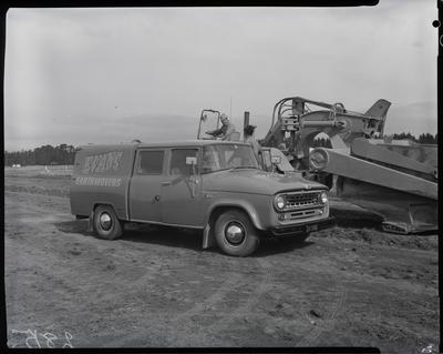 Film negative: International Harvester Company: Evans Earthmovers C1100 truck