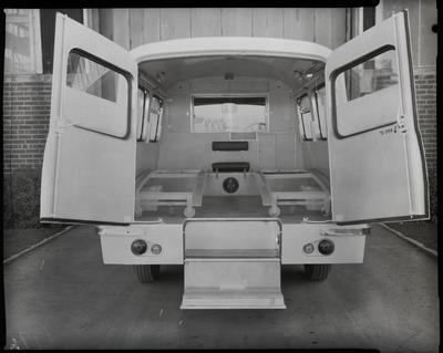 Film negative: International Harvester Company: c-line ambulance, interior