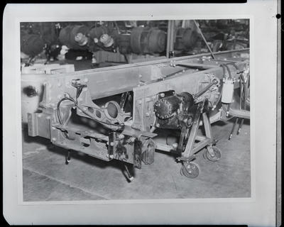 Film negative: International Harvester Company: DFC 400 truck, chassis assembly