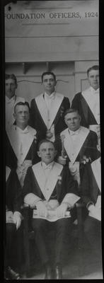 Film negative: Shirley Masonic Lodge, members