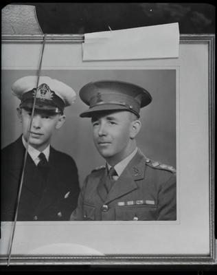 Film negative: Shirley Masonic Lodge, two officers