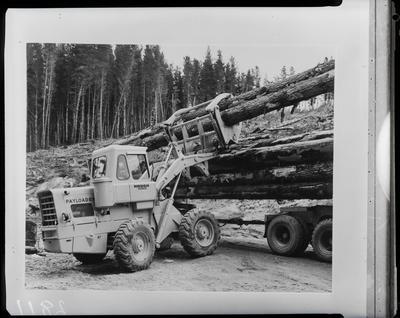 Film negative: International Harvester Company: Hough logger