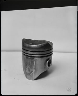 Film negative: International Harvester Company: damaged piston