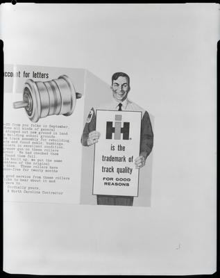 Film negative: International Harvester Company: contractor leaflet