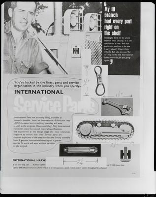 Film negative: International Harvester Company: contractor leaflet