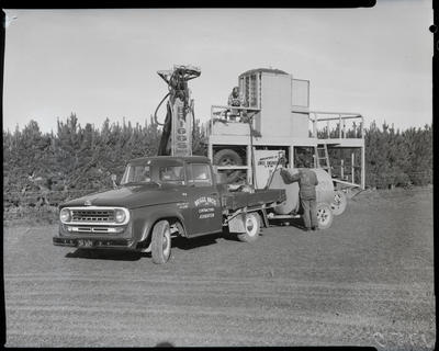 Film negative: International Harvester Company: Briggs Brothers truck and machine