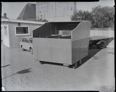 Film negative: V Parks Limited, horse float