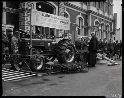 Film negative: International Harvester Company: Corso tractor dedication