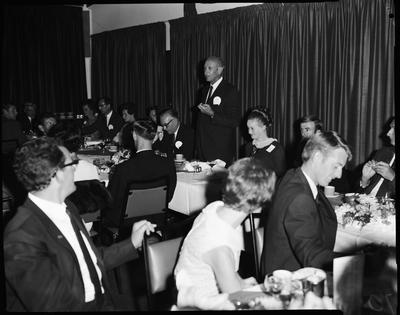 Film negative: M L C dinners, first night