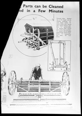 Film negative: International Harvester Company: fertilizer distribution diagram