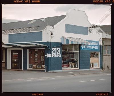 Negative: Standish & Preece Shop Exterior