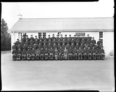 Film negative: Burnham Medical Depot, large group
