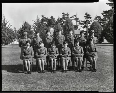 Film negative: Burnham Women's Royal Army Corps, group of thirteen