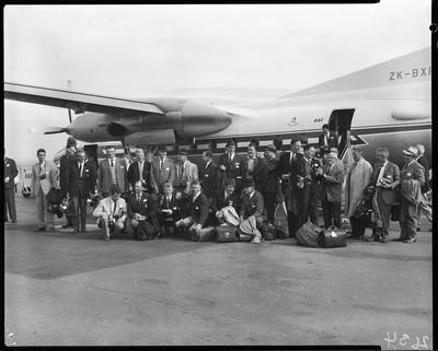 Film negative: National Airways Corporation passengers