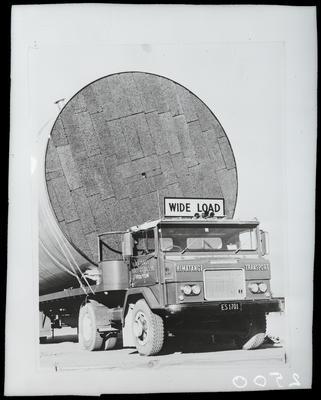Film negative: International Harvester Company: wide-load truck