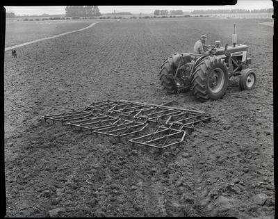 Film negative: International Harvester Company: tractor and harrow