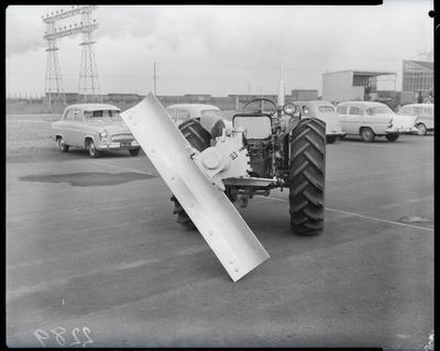 Film negative: International Harvester Company: tractor and scraper blade