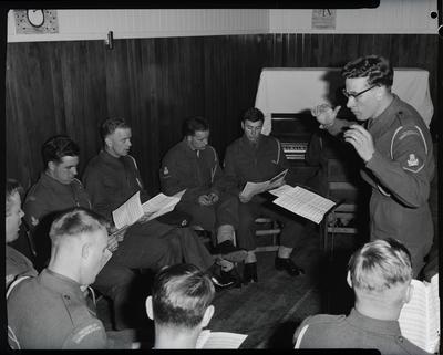 Film negative: Army band, study