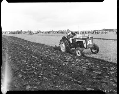 Film negative: International Harvester Company: tractor ploughing