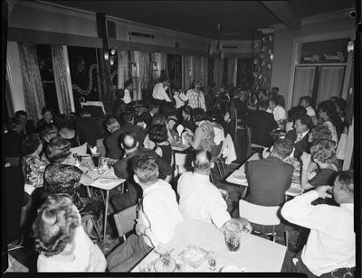 Film negative: Central Hotel, social gathering