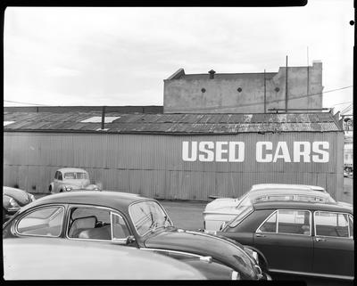 Film negative: Riviera Car Sales, building