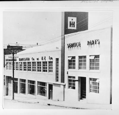 Film negative: International Harvester Company: building