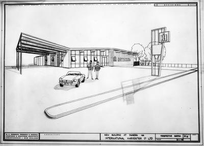 Film negative: International Harvester Company: plan of Dunedin building