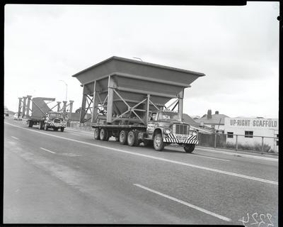 Film negative: International Harvester Company: Durham's truck and big load