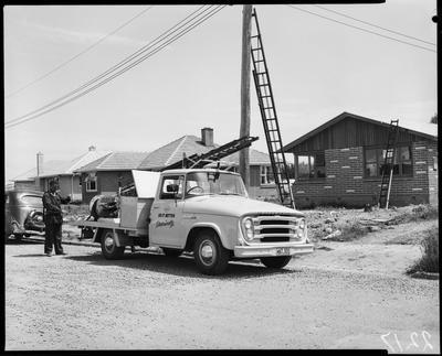 Film negative: International Harvester Company: Electricity Co local body truck