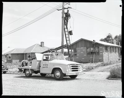 Film negative: International Harvester Company: Electricity Co local body truck