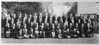 Film negative: Christ's College, old boys large group