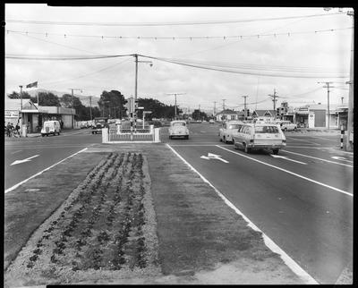 Film negative: Linwood Avenue intersection