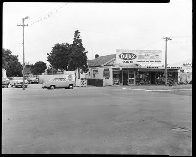Film negative: Linwood Avenue hardware store