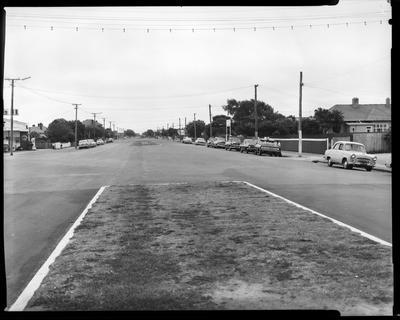 Film negative: Linwood Avenue view