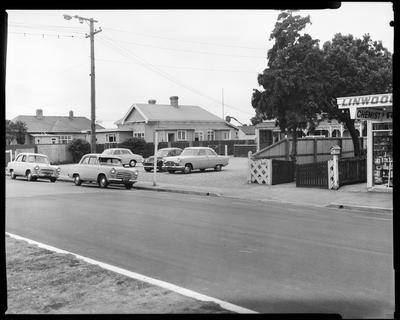 Film negative: Linwood Avenue local shops and car park