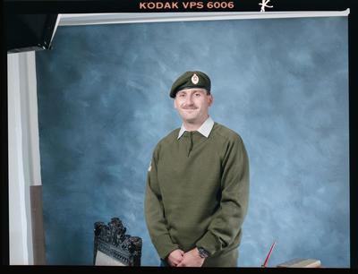 Negative: Unnamed Man Burnham Military Camp