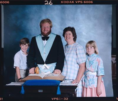 Negative: Unnamed Freemason and Family