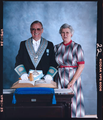 Negative: Unnamed Freemason and Woman